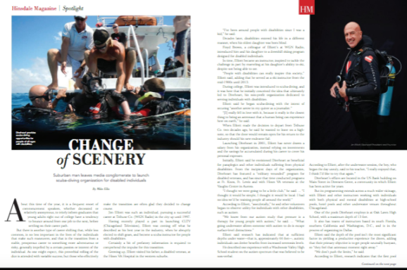 Hinsdale Mag: Change of Scenery – Diveheart