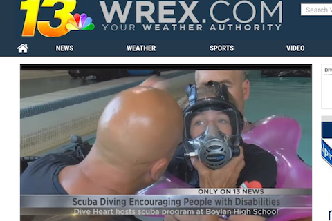 WREX-TV13: Diveheart Scuba Offers Experience to Students with Disabilities